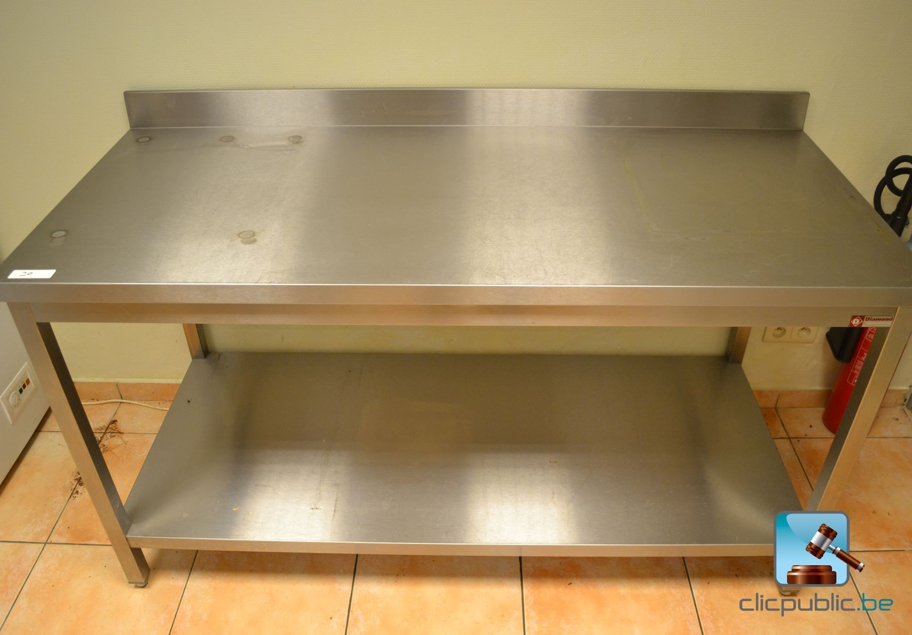 table de cuisine professionnelle en inox diamond ref 20
