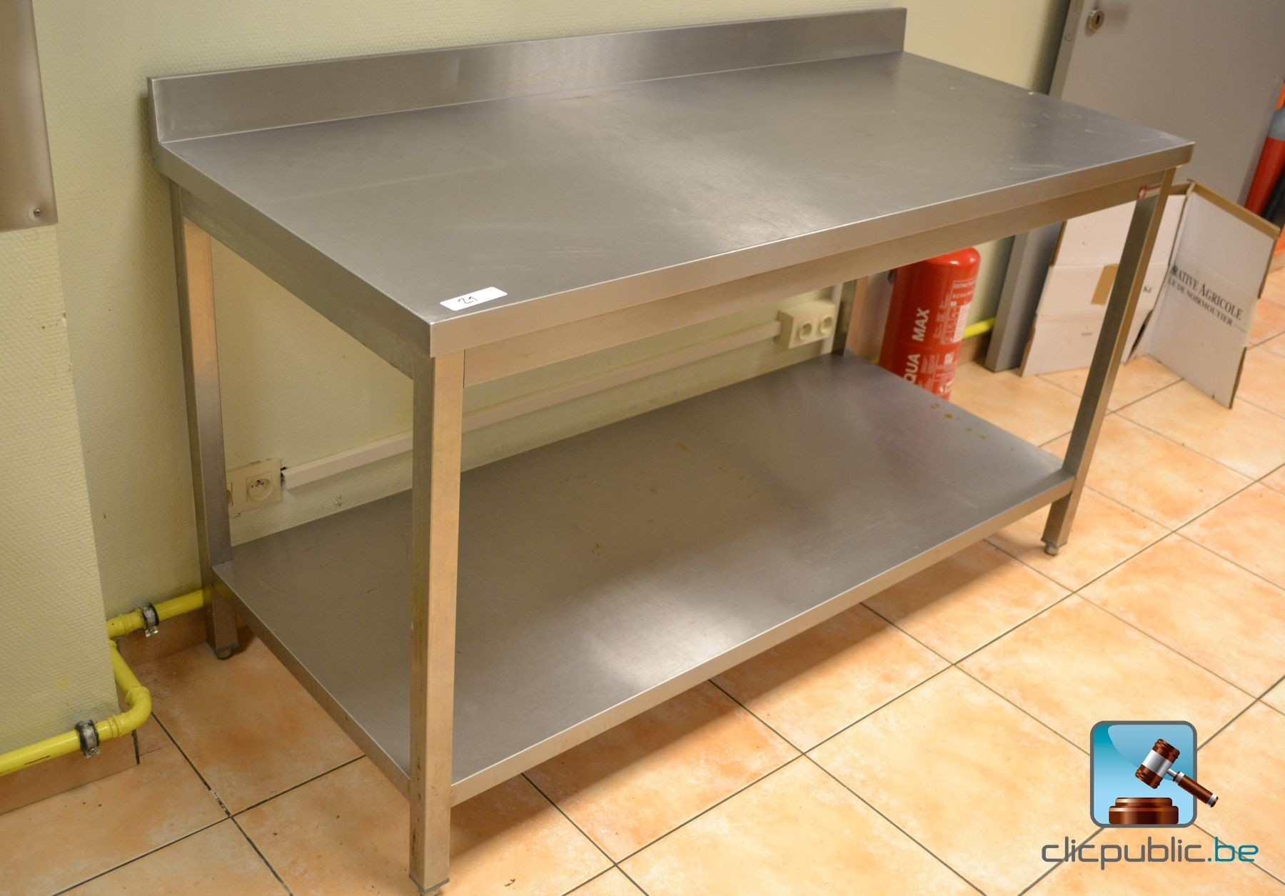 table de cuisine professionnelle en inox diamond ref 21