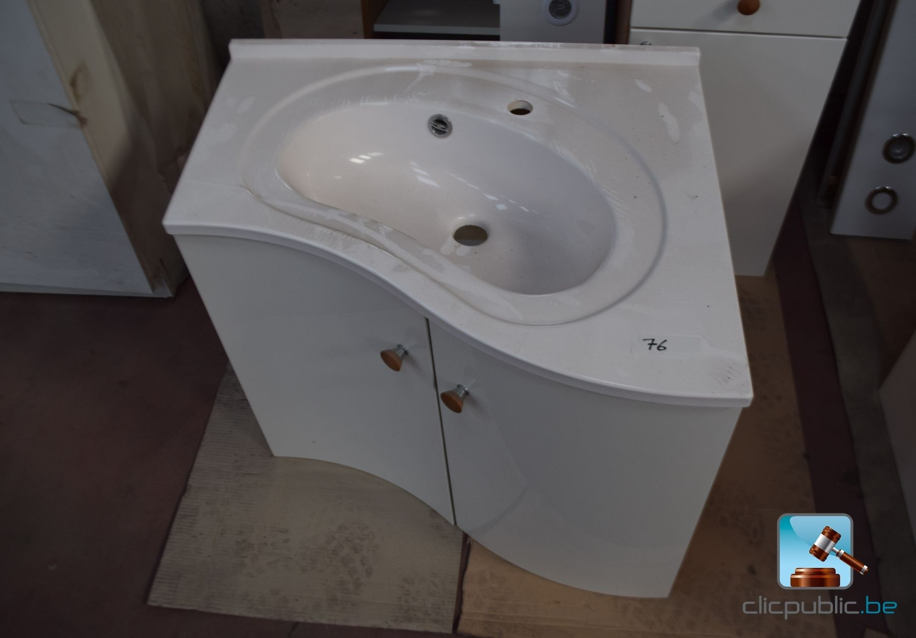 Meubles cuisine salle de bain stratifi blanc et h tre for Stratifie dans cuisine