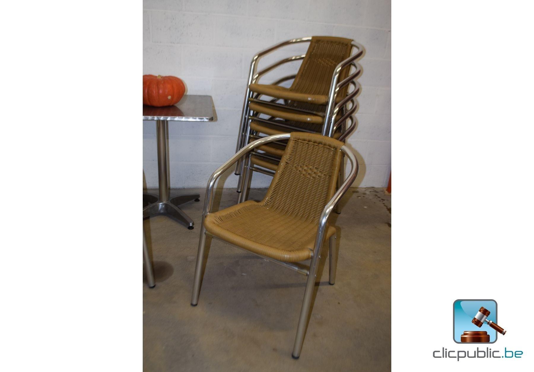 Mobilier de terrasse 7 fauteuils et 5 tables ref 25 vendre sur clicpubli - Mobilier terrasse occasion ...