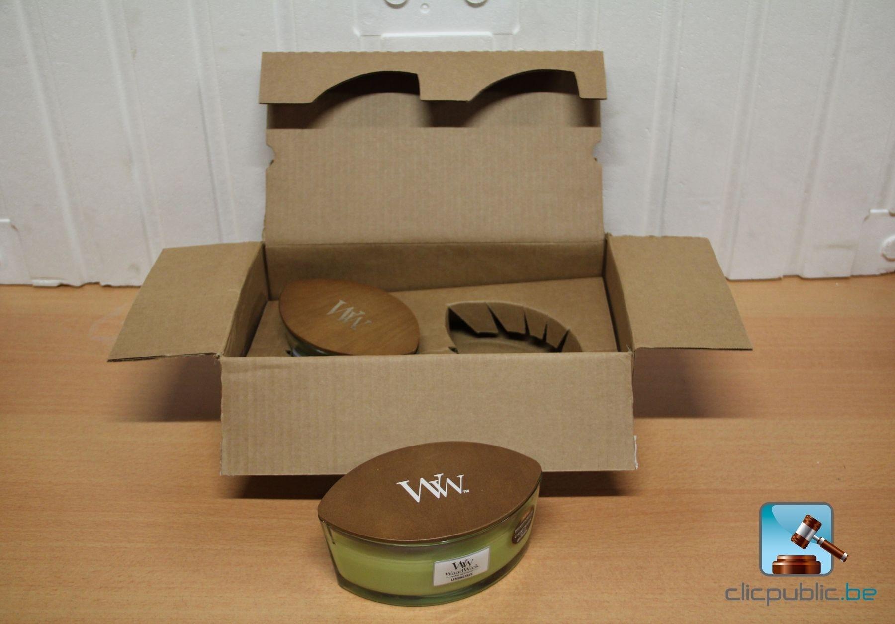 2 bougies parfum es woodwick ellipse parfum citronnelle ref b29 vendre sur. Black Bedroom Furniture Sets. Home Design Ideas