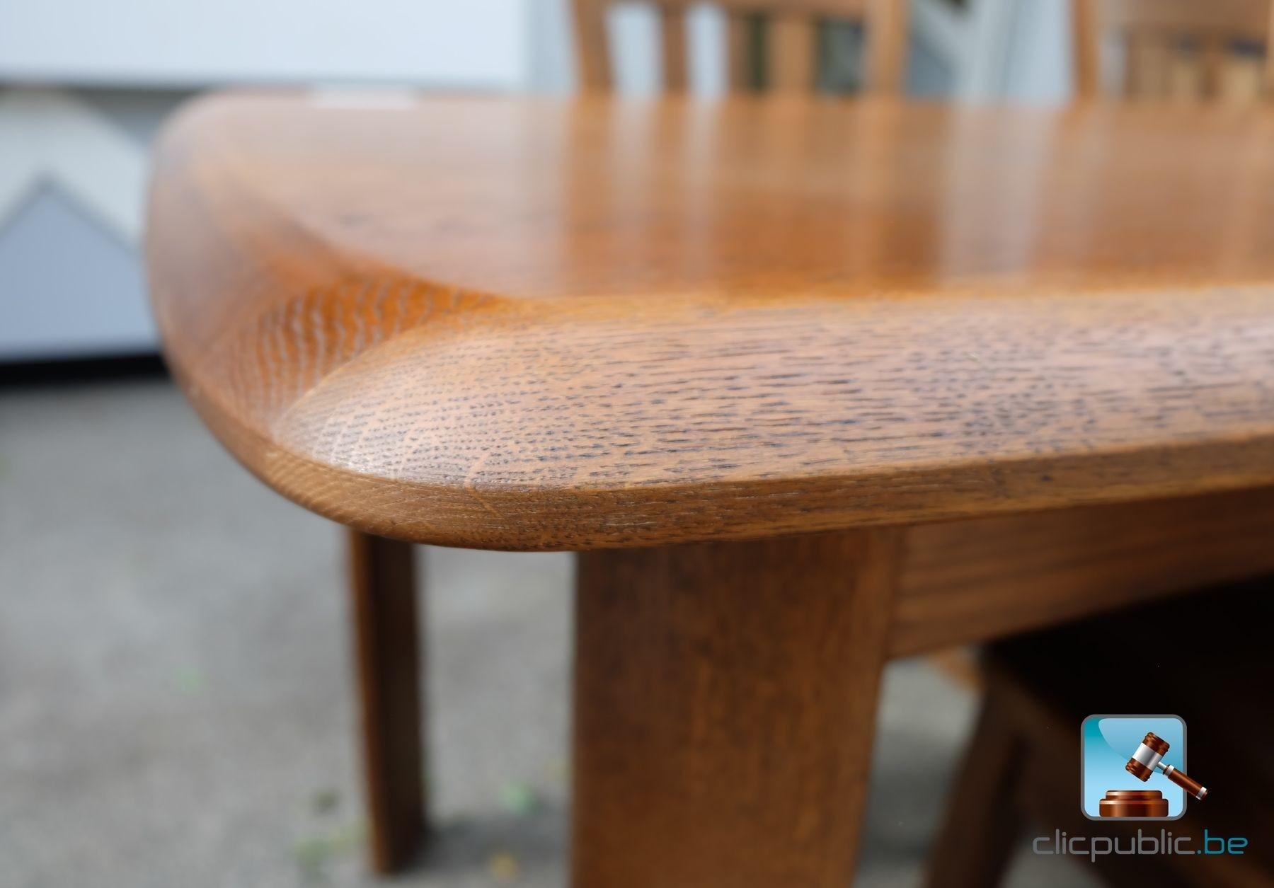 #623B1F Table De Salle à Manger En Chêne Massif Lamellé Collé (ref  3557 salle à manger en chêne massif à vendre 1800x1255 px @ aertt.com
