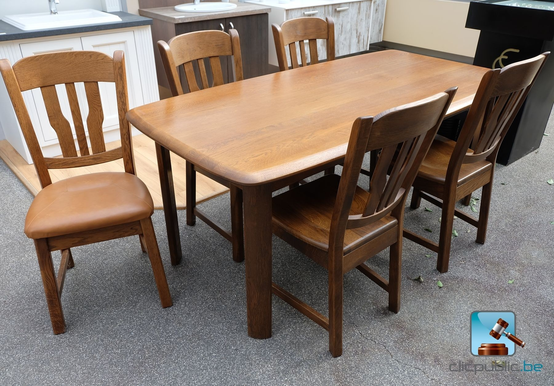 #996332 Table De Salle à Manger En Chêne Massif Lamellé Collé (ref  3557 salle à manger en chêne massif à vendre 1800x1255 px @ aertt.com