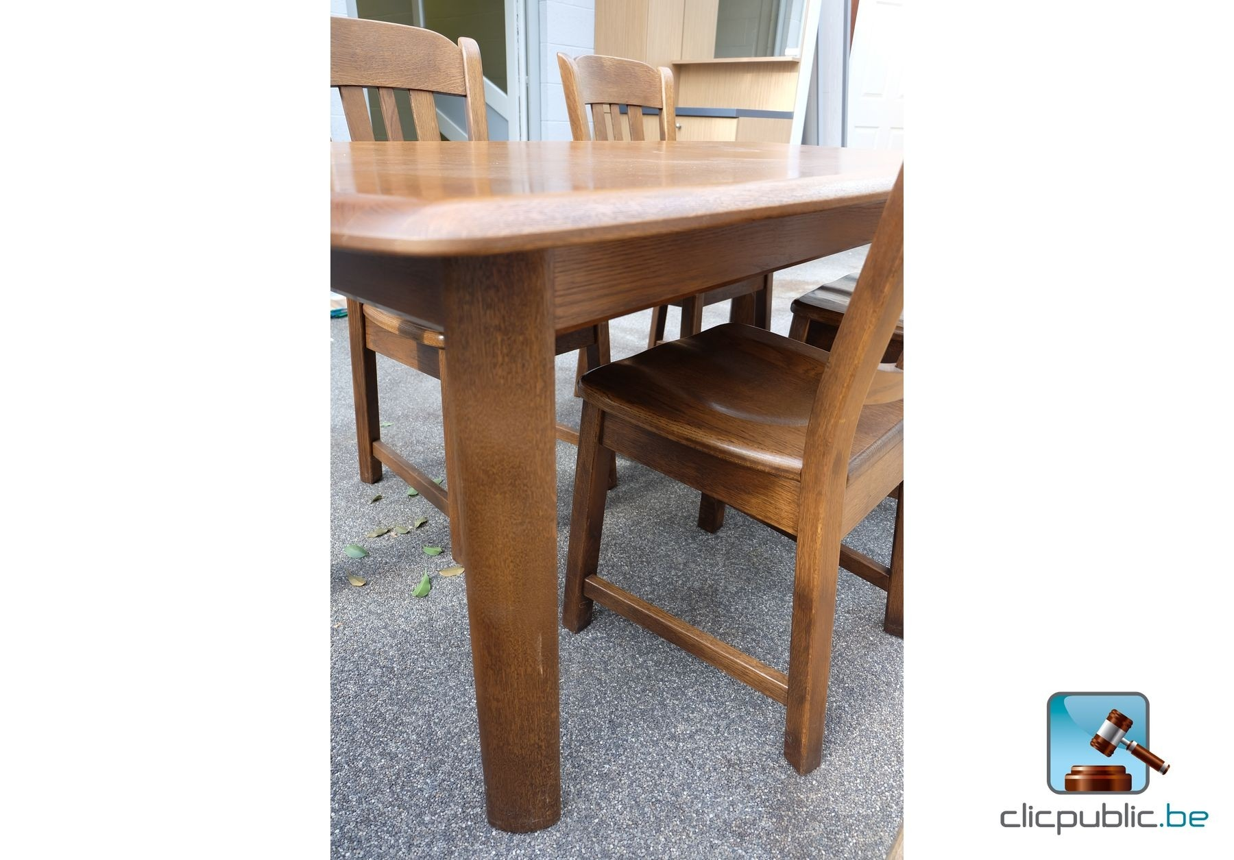 #90623B Table De Salle à Manger En Chêne Massif Lamellé Collé (ref  3557 salle à manger en chêne massif à vendre 1800x1255 px @ aertt.com