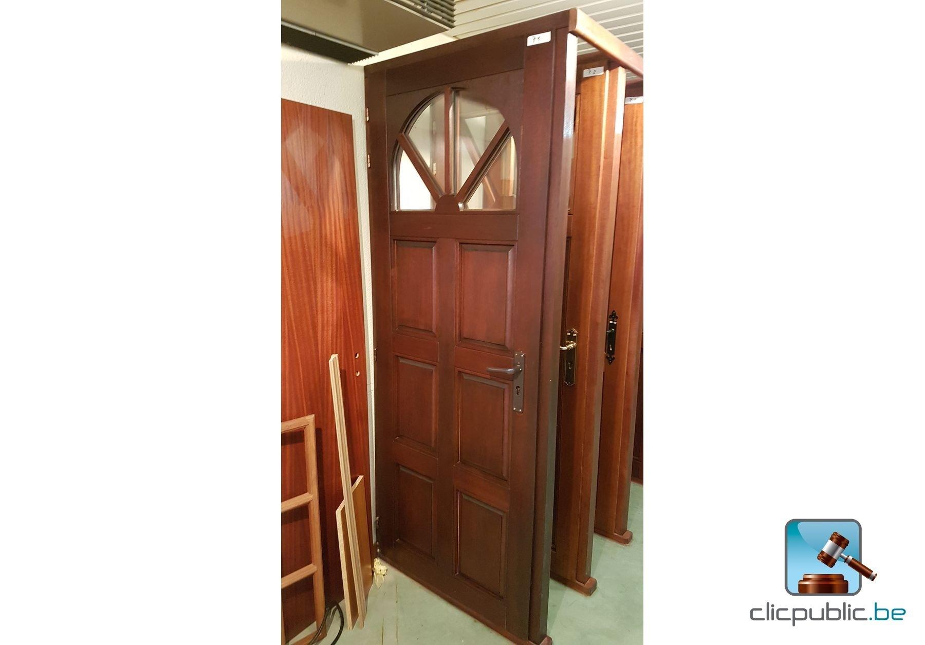 Porte ext rieure en meranti massif ref p1 vendre sur for Porte vitree exterieure occasion