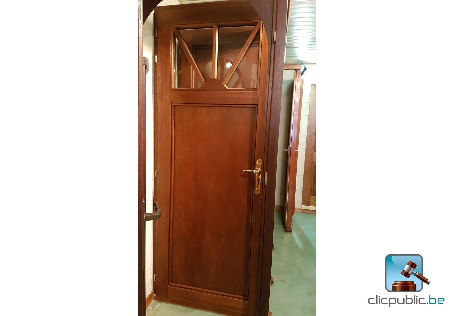 Porte ext rieure en meranti massif ref p2 vendre sur for Porte vitree exterieure occasion