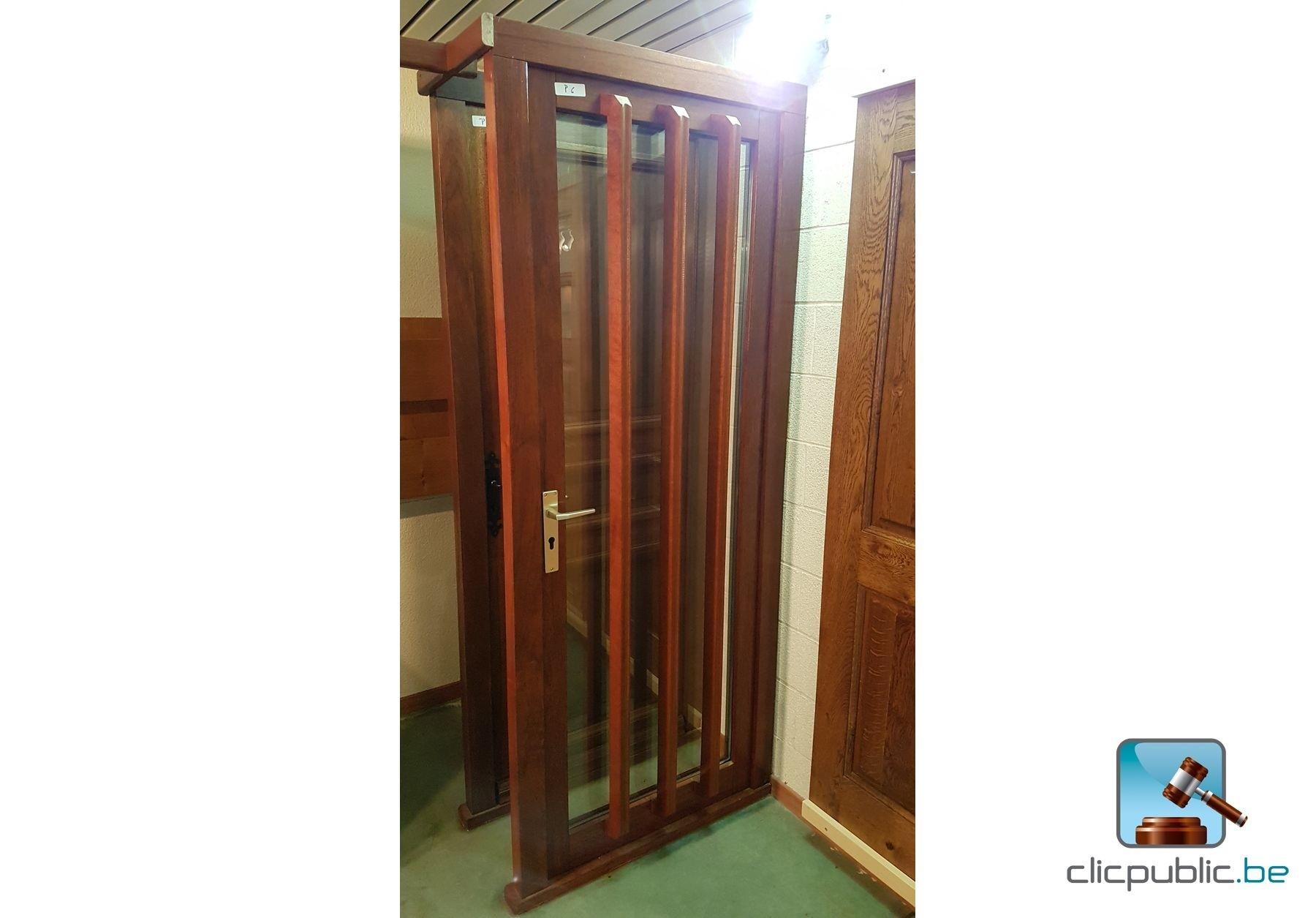 Porte ext rieure en meranti massif ref p6 vendre sur for Porte vitree exterieure occasion