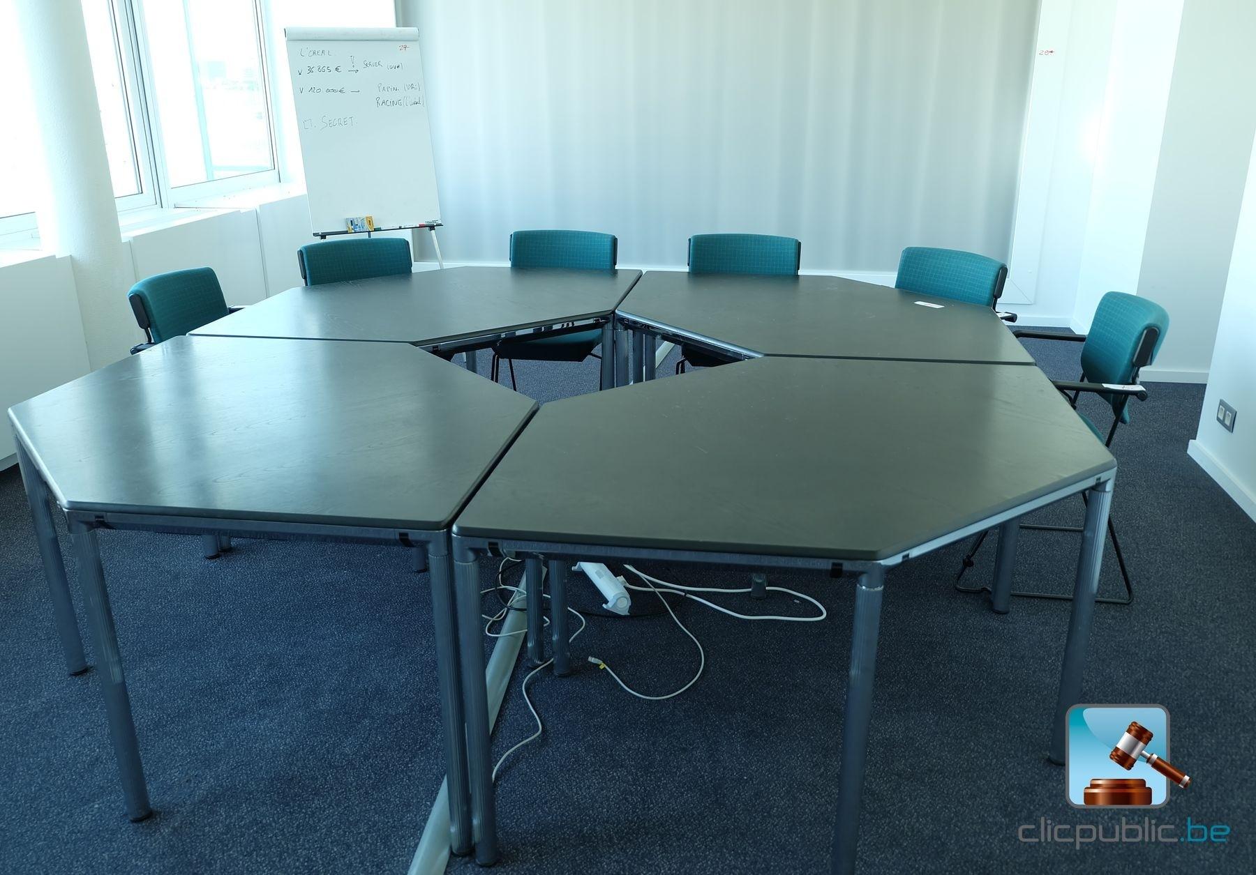Table De R Union Modulable Octogonale 6 Chaises Ref 27