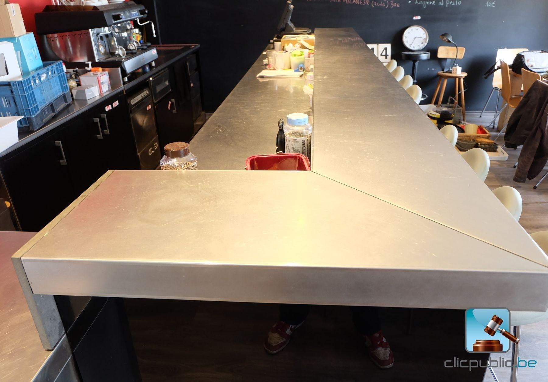Mobilier grand bar en m lamin noir brillant ref 30 vendre sur clicpub - Mobilier restaurant occasion belgique ...