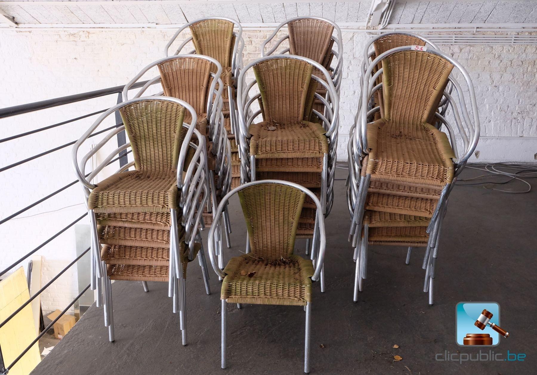 Mobilier de terrasse 53 fauteuils ref 51 vendre sur for Mobilier de terrasse