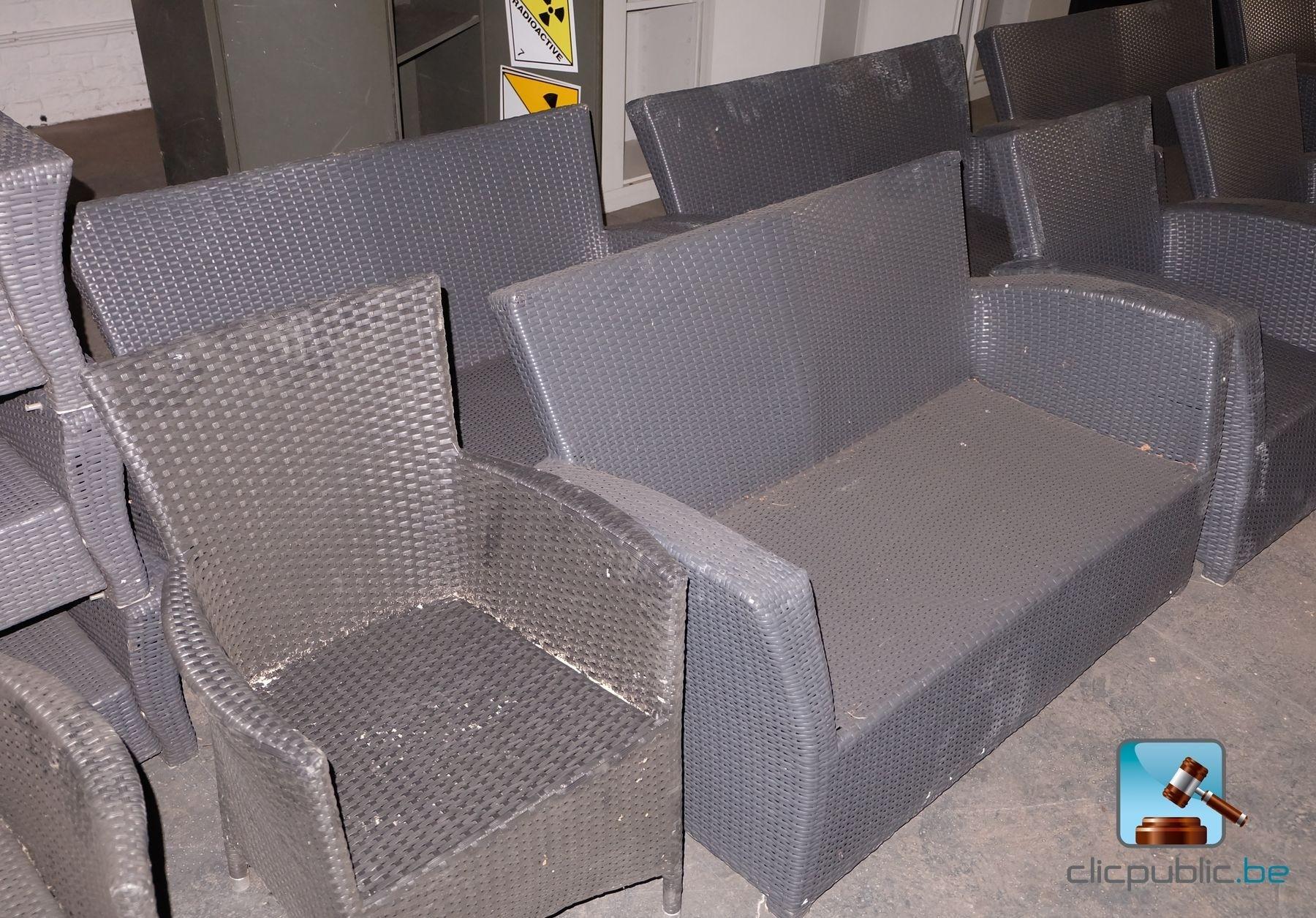 mobilier de terrasse en rotin synth tique ref 57. Black Bedroom Furniture Sets. Home Design Ideas
