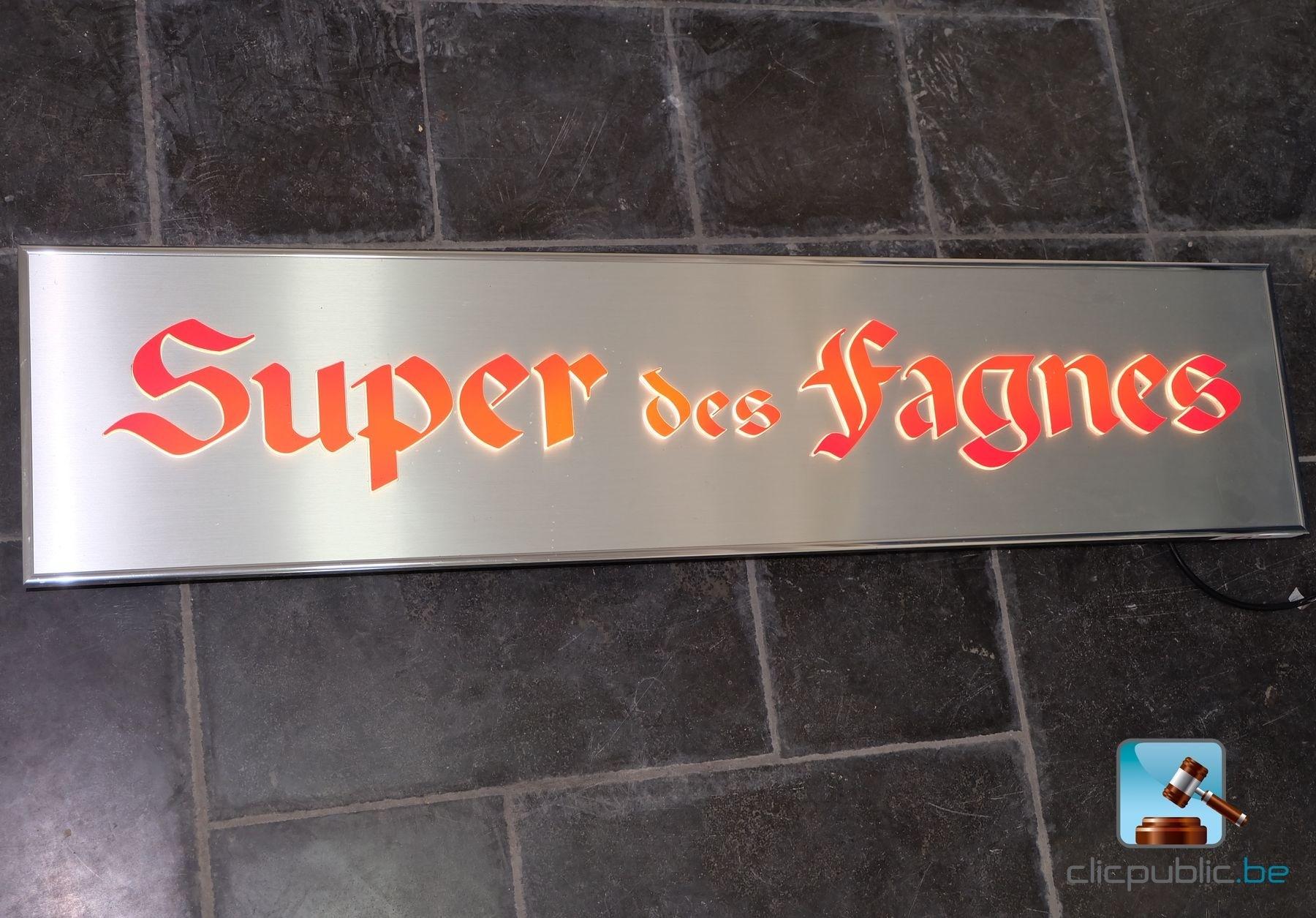 D coration enseigne lumineuse super des fagnes ref 102 vendre sur clic - Enseigne de decoration ...