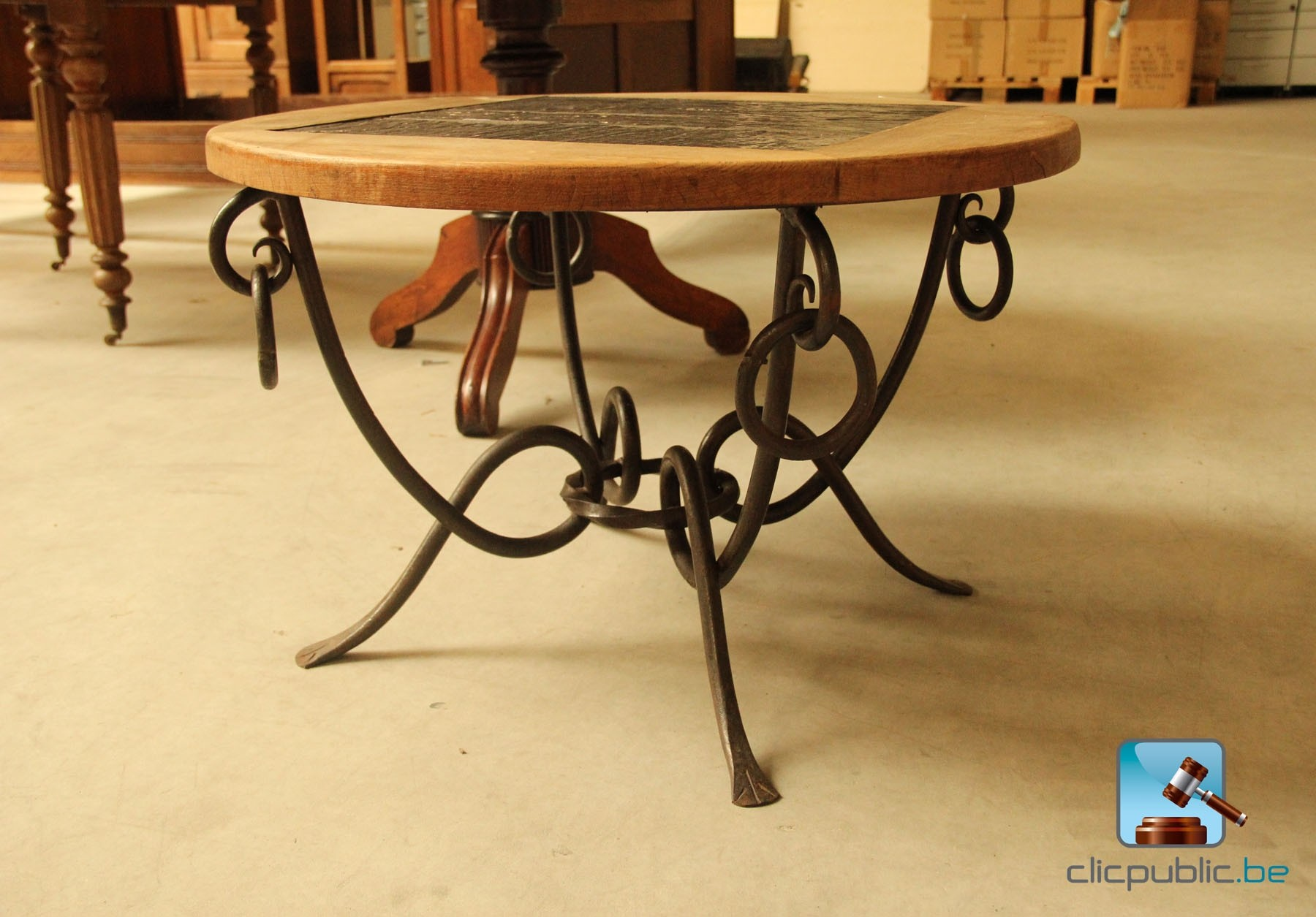 Table salon fer forg vendre sur - Table salon fer forge ...