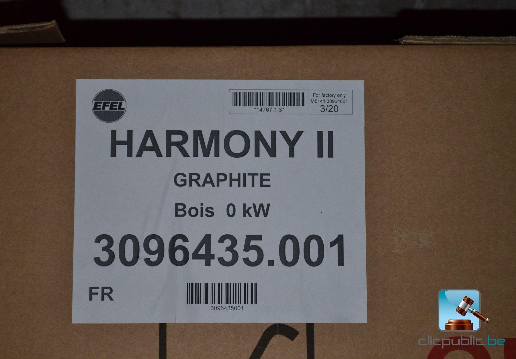 Poêle au bois NESTOR MARTIN HARMONY II Graphite à vendre