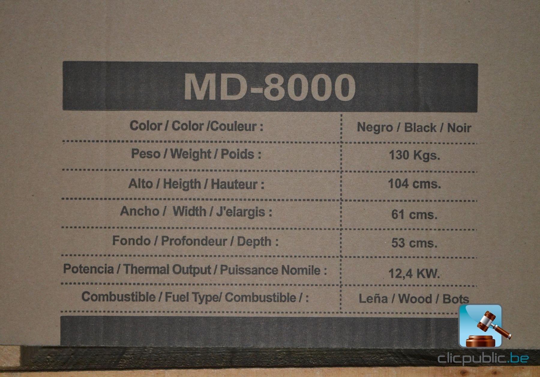 Poêle au bois ABE MD 8000 à vendre sur clicpublicbe