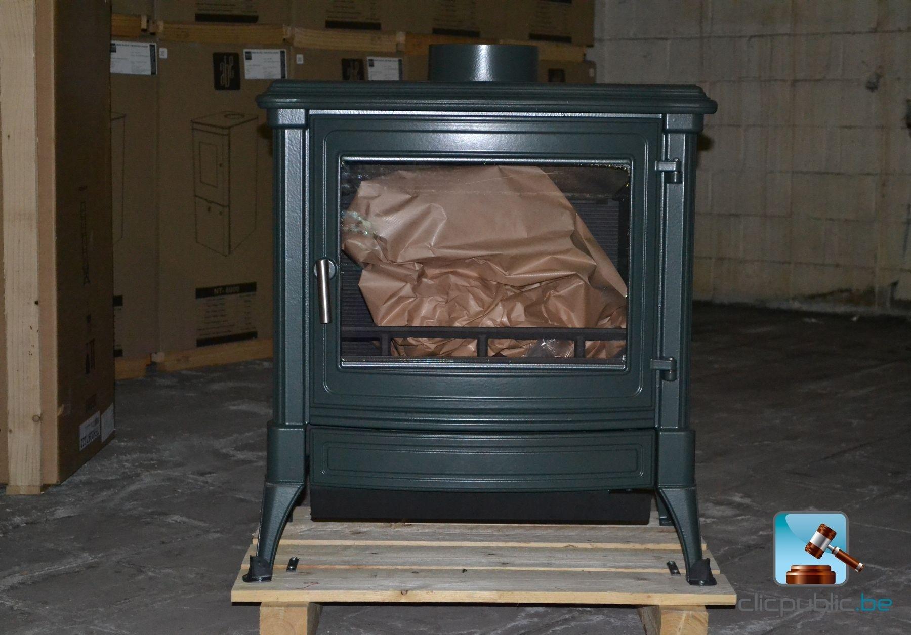 Poêle au bois NESTOR MARTIN S43 MF Olive à vendre sur