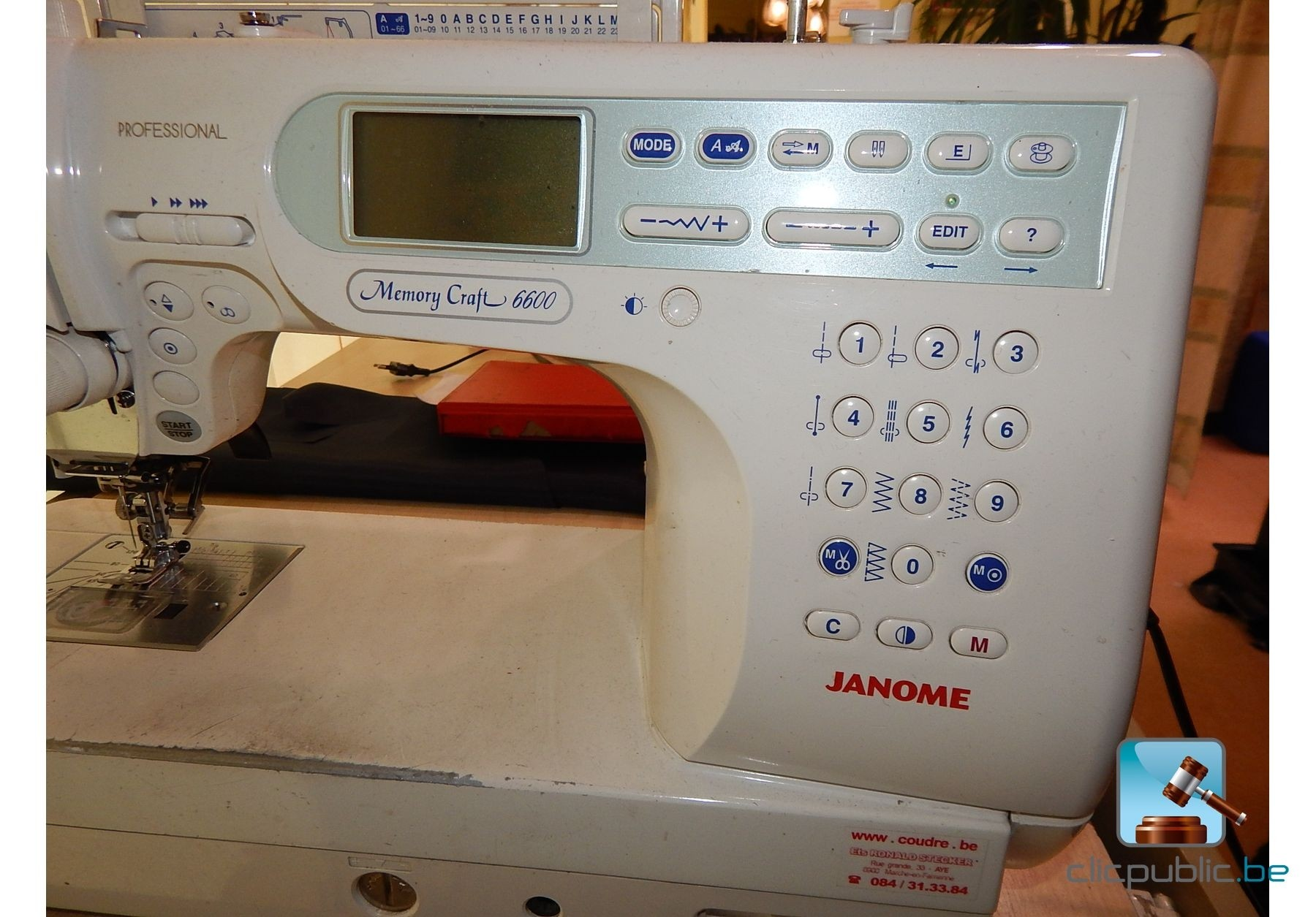 Machine coudre janome memory craft 6600 vendre sur for Machine a coudre 217 occasion