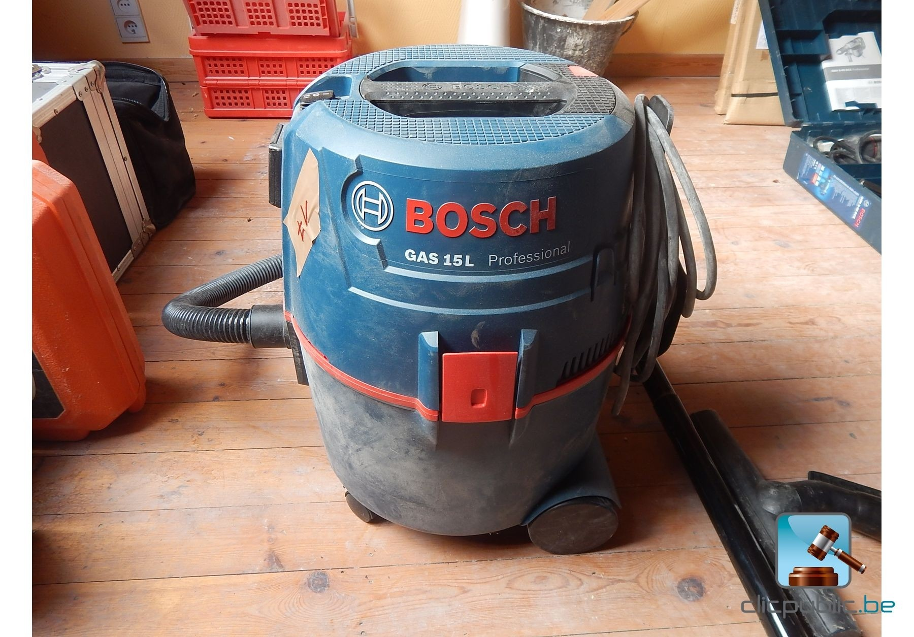 aspirateur de chantier bosch gas 15l professional 1200w vendre sur. Black Bedroom Furniture Sets. Home Design Ideas