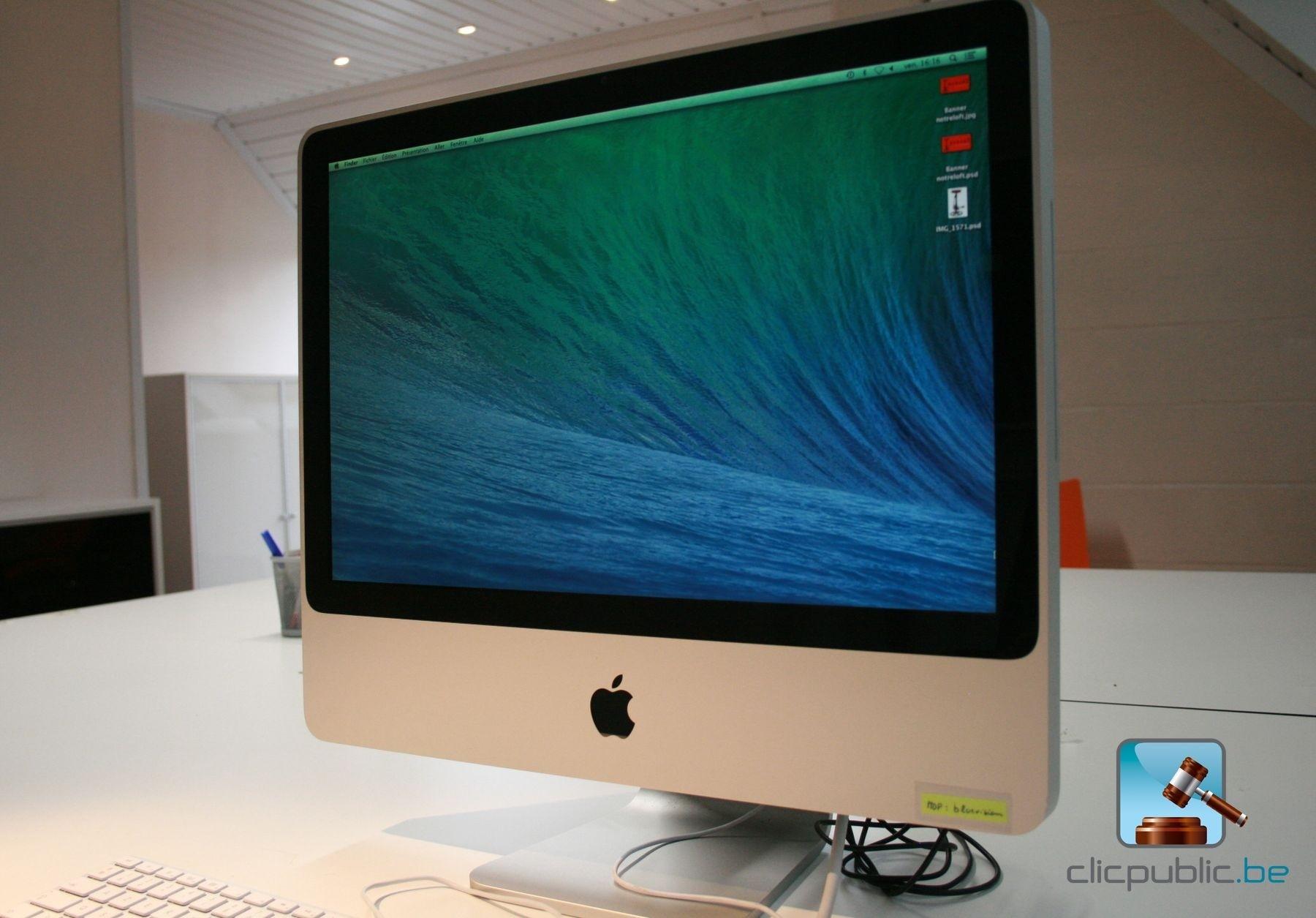 ordinateur de bureau apple imac 20 ref 74 vendre sur. Black Bedroom Furniture Sets. Home Design Ideas